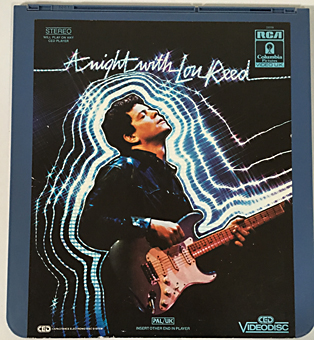 a Night with Lou Reed (1983),RCA CED Videodisc,CED_Videodisc