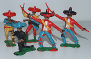 Mexicans figuren - 60 mm groot